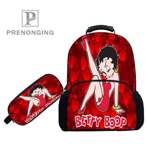 Leuk Custom 17 Inch Betty-boop-vari Rugzakken Pen Zakken 3d Printing School Vrouwen Mannen Reistassen Jongens Meisjes Boek Computers Bag #1031--79