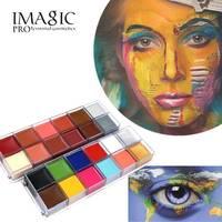 IMAGIC Body Face Paint Waterproof Makeup Painting Pigment Multicolor Series Body Art For Halloween Neon UV