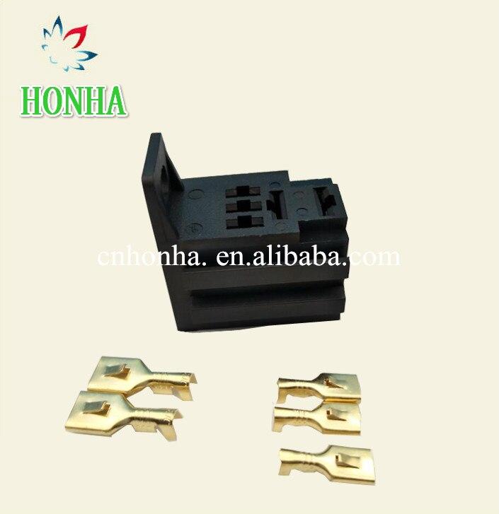Automotive Car Relay Sockets 5 Pin Mount Series Relays
