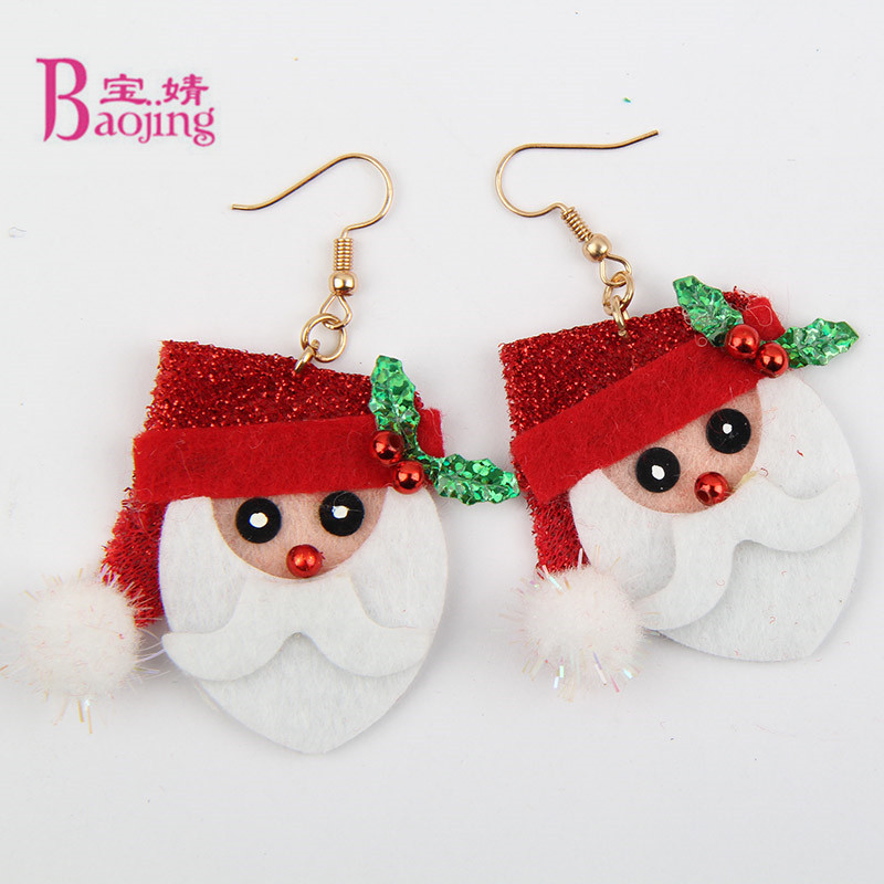 New Arrival Cute Christmas Earrings Santa Claus Earring Holiday Gifts For Womens Ladys Earrings Costume jewelery