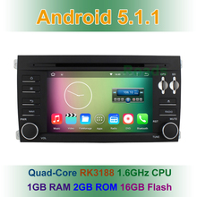 Quad Core Android 5.1.1 Car DVD Player for Porsche Cayenne 2003 2004 2005 2006 2007 2008 2009 2010 with GPS BT Wifi Radio