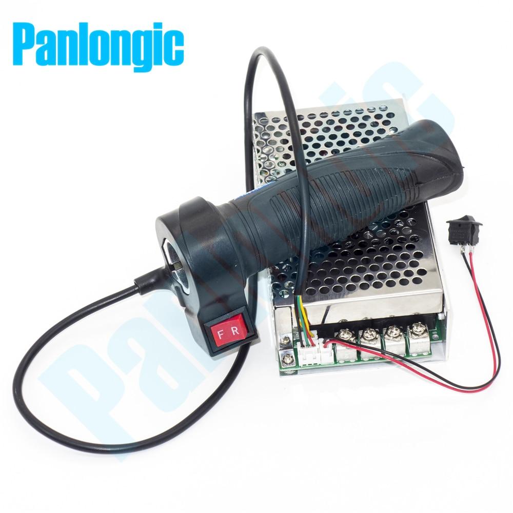 Panlongic Mão Aperto de Torção Acelerador Salão 100A 5000 W PWM Reversível DC Controlador de Velocidade Do Motor 12 V 24 V 36 V 48 V Soft Start freio