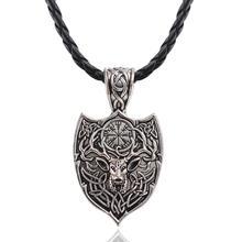 Legendary Viking Amulet Large Double Deer Nordic Talisman Pendant