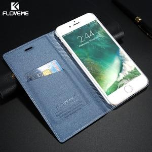 Image 5 - حافظة لهاتف iPhone 5 5s SE iPhone 8 من FLOVEME حافظة جلدية فاخرة مزودة بفتحة لبطاقة الفليب لهاتف iPhone X 7 6 6S