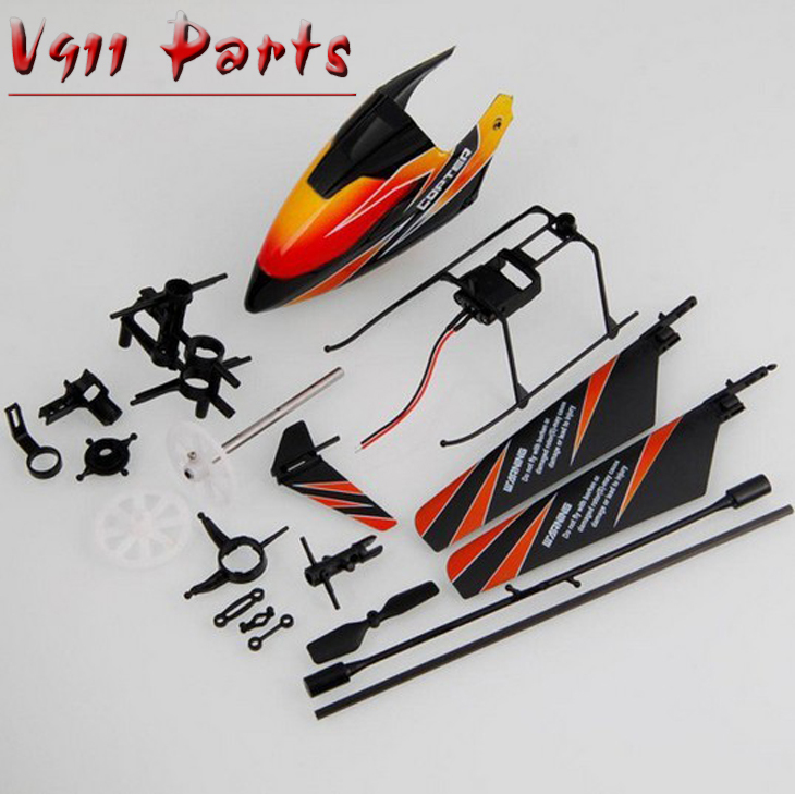 все цены на Wl toys mini rc Helicopters v911 spare parts v911parts v911 Main Blade parts for wl v911 v911-1 Balance bar gear онлайн