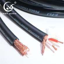 Oi-fim de alta fidelidade xssh áudio 8mm cobre puro ofc μ-p2.1 pcocc conductor balance cabos de linha de cabo de fio de cabo de áudio