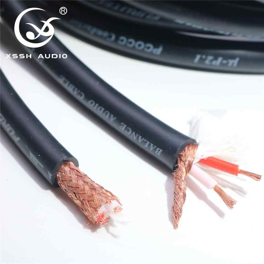 Hi-end Hi-Fi XSSH аудио 8 мм, Чистый медный OFC μ-P2.1 PCOCC проводник баланс аудио кабель провод шнур Кабели