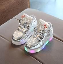 Chaude Kitty Enfant Lumineux Sneakers Marque Strass chaussures enfants LED  Clignotant Boot pour Bébé filles Casual 046c10412686