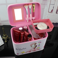 Korean Girls Waterproof Makeup Bag PU Travel Organizer Cosmetic Bag for Women Large Necessaries Make Up Case Wash Toiletry Bag