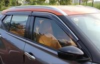 4Pcs Auto Styling Tür Fenster Wind Visier Moulding Markisen Schild Regen Sonne Wind Vent Schatten Für Nissan Kicks 2017