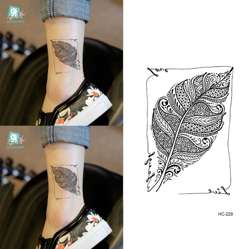 10pcs Waterproof Temporary Tattoos Sleeve Owl Fox Artificial Flowers Tattoo Many Designs Sex Men Beauty Body Art 3d Tatoo 10