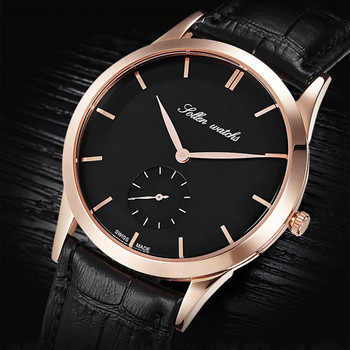Brand Fashion Men Simple Business Watches British Wind Gentlemen Elegant Genuine Leather Wrist watch Japan Quartz Watch Relogios