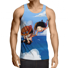 Top Brand 2017 New Arrival Men Fashion Summer Tank Top One Piece 3d Print Luffy T Shirt Sleeveless Men Casual Fitness Vest R2955