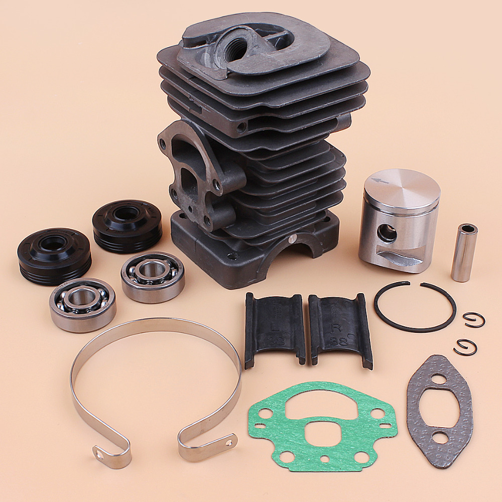 HUSQVARNA 235 545050417 Rebuild 236E Bearing Oil Chainsaw Seal 240E Cylinder Gas 240 39MM Parts 236 Piston Engine Fit Kit Spare