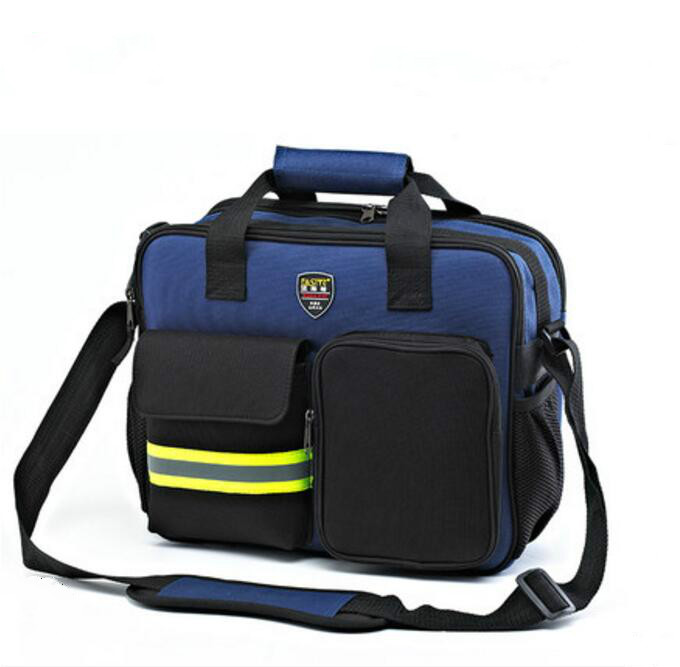 FASITE Instrument Case Multi-function Portable Shoulder Pouch Tool Belt Tool Bag/Case Blue