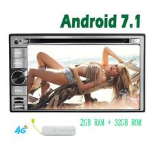 Pure Android 7.1 System in dash Car Stereo Autoradio Bluetooth Car DVD Player Octa Core 1080P HD Video Player support SWC Wifi M