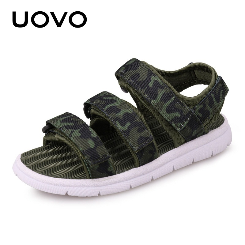 UOVO Kids Sandals Boys And Girls Light Weight Sole Children Summer Sandals New Arrive High Quality 4 Colors Kids Shoes Eur#25-38 uovo summer new children shoes kids sandals for boys and girls baotou beach shoes breathable comfortable tide children sandals