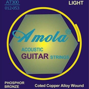 Amola AT300 012-053 Acoustic guitar strings light strings for acoustic guitar accessories guitar parts wholesale acoustic classical guitar repair clip maintenance tools guitar parts accessories