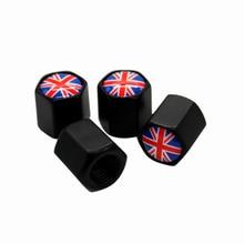 4 шт./компл. Великобритания Англия Логотип Автомобильная эмблема пылезащитный колпачок для шины вентиль шины колеса крышки s для Jaguar MINI Land Rover