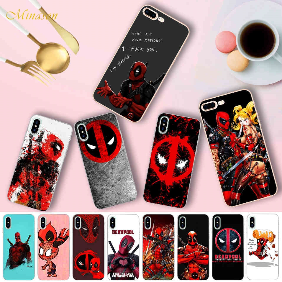 US $1.99 35% OFF|Funny Deadpool Quotes Case for iPhone X 5 5S XR XS Max 6  6S 7 8 Plus Cover Transparent Soft Silicone Phone Fundas Capinha Coque-in  ...