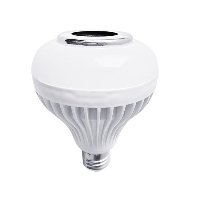 New Hot Smart LED RGB Wireless Lamp Bluetooth Speaker Bulb 12W Music Playing Indoor Light