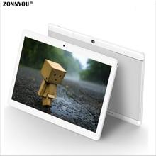 10.1 pulgadas Tablet PC 3G 4G LTE Octa Core PC 4 GB de Ram di; tarjeta de 32 GB Rom Llamada de Teléfono Android 6.0 WiFi GPS Tablet pc 1920×1200 Tab