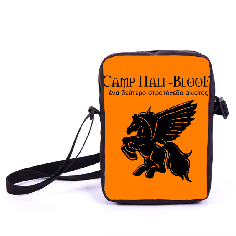 Percy Jackson CAMP Half Blood Messenger Bag Camp Half-Blood Boys Girls Mini Shoulder Bag Children School Bags Kids Cross Bags percy jackson demigod files p jackson