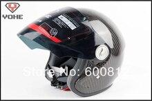 DOT ЕЭК сертификации YOHE Мотоциклетный шлем Мотокросс шлем мотоцикл шлем, ИЗГОТОВЛЕННЫЙ из лучших углеродного волокна yh-823-w 3