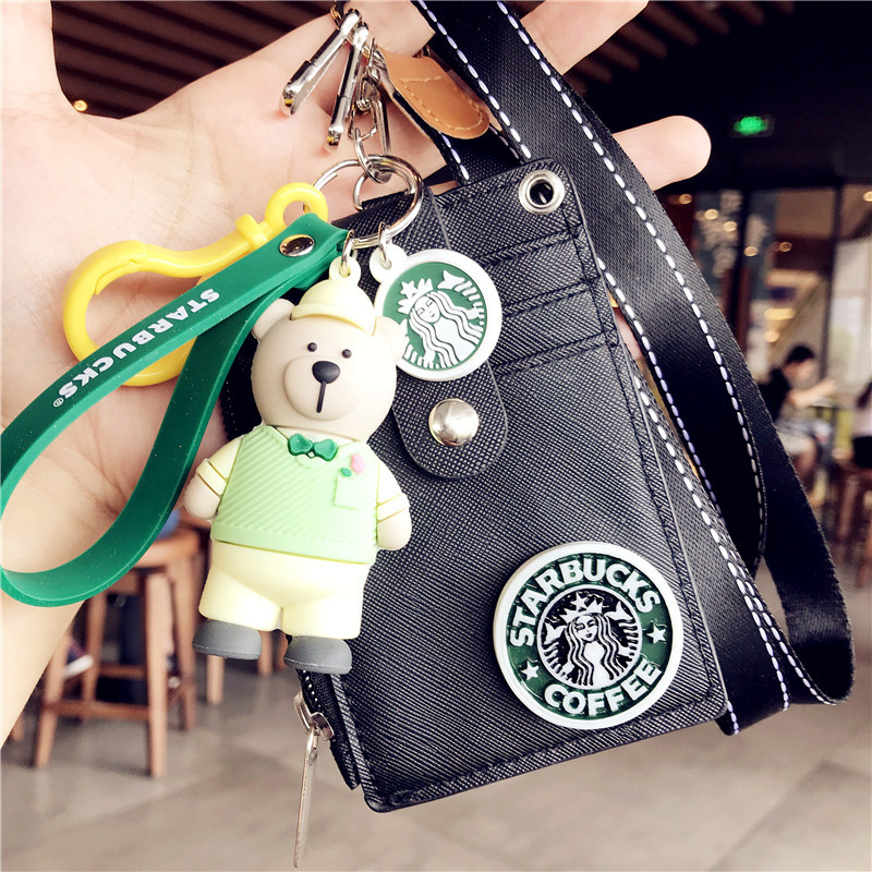1pcs High Quality Lovely Keychain Keyring ID Badge Case Clear Pattern Student Nurse Bank Credit Card Holders ID Badge Holders