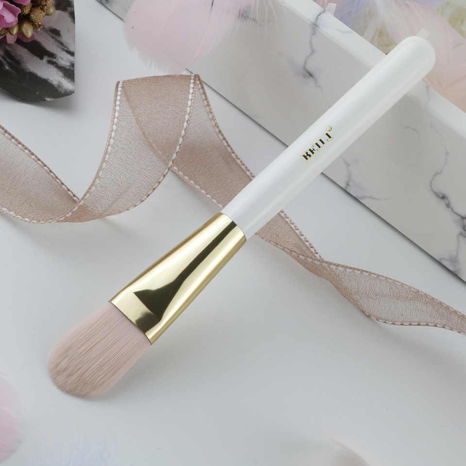 ביילי 1 חתיכה לבן פנינה איפור מברשת סינטטי שיער קרם נוזלי קרן מברשת ידית חוד זהב אכזריות משלוח WL12
