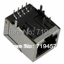 %100 NEW FREE SHIPPING 10PCS/LOT PULSE J0011D01BNL CONN MAGJACK 1PORT 100 BASE-TX