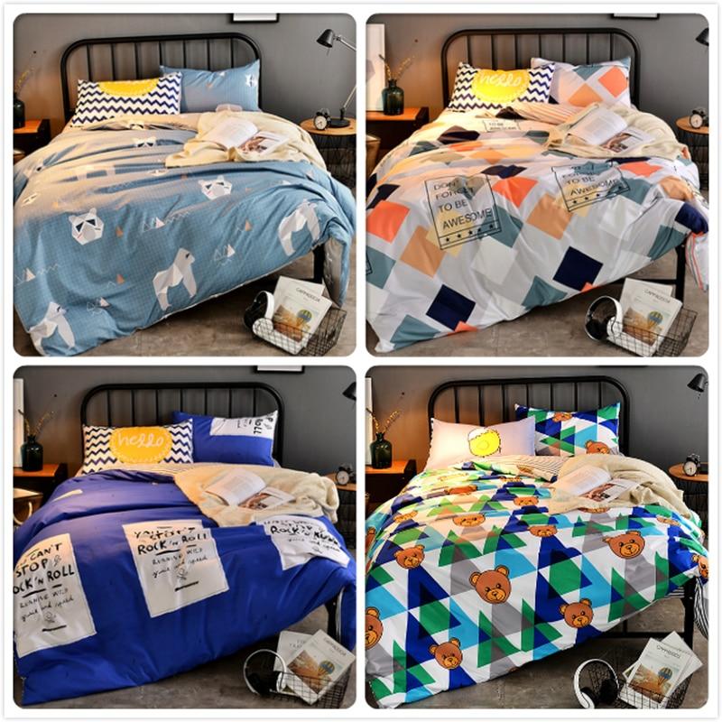 Dashing Geometric Pattern Bedlinen 1.5m 1.8m 2.0m 2.2m 2.3m Bedsheet Bed Linen Suit 3/4 Pcs Bedding Set Full King Queen Size Duvet Cover Power Source