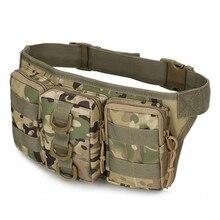 New Waterproof Men s Waist Pack Casual Molle Military Waist Pouch Women Belt Bag Nylon Waist