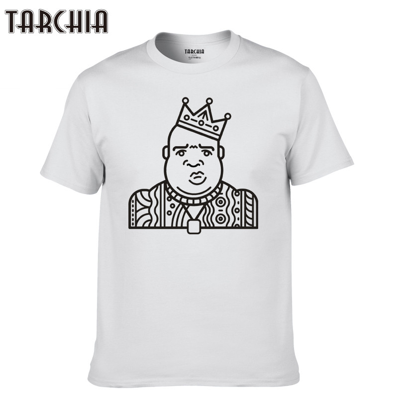 TARCHIA 2018 cotton tops rap tees men brand hip hop homme tshirt t fashion t-shirt music short sleeve boy casual Biggie summer