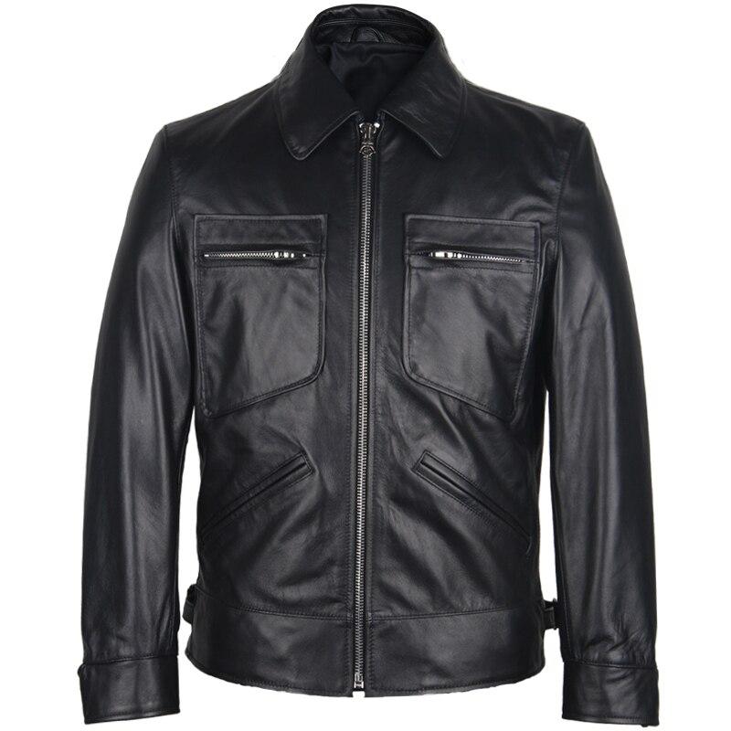Jacket Harley Damson Plus-Size Russian Genuine-Cowhide XXXXL Casual Autumn Fashion Black