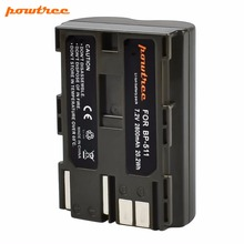 1X 2800mAh BP-511 BP511 BP 511A  Rechargeable Battery For Canon  Canon EOS 40D 300D 5D 20D 30D 50D 10D D60 G6 G5 G3 G2 G1 L25