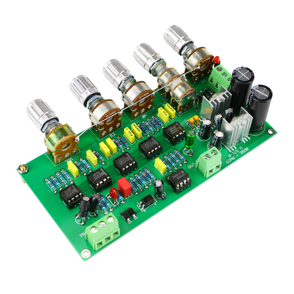 GHXAMP Subwoofer Preamplifier Filter Board TL072 Tone Low Pass AWCS Dynamic Equalization 5.1 Sub Amplifier Single-ended Output