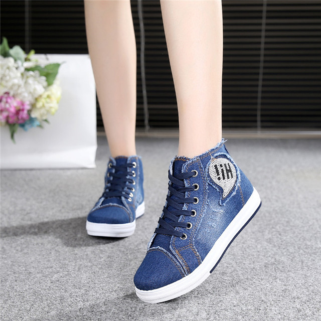 1c0c83c0201 Women s Platform Shoes Lace-up Breathable Thick Flat Bottom Female Students  Sole Canvas Shoes Women Casual Shoe Zapatos Mujer
