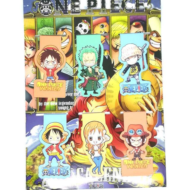 One Piece Marcapáginas Imanes (6 piezas/set)