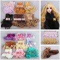 Оптовая продажа 2 шт./лот 15 * 100 см кукла парик / вьющиеся кукла DIY парики для 1/3 1/4 1/6 BJD SD волнистые ручной куклы парик волос