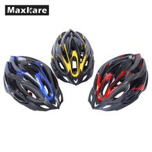 Maxkare ultralight Skiing Cycling Helmet Bicycle Adjustable Mountain Road For Women Kids Child Men Shockproof With Visor Red
