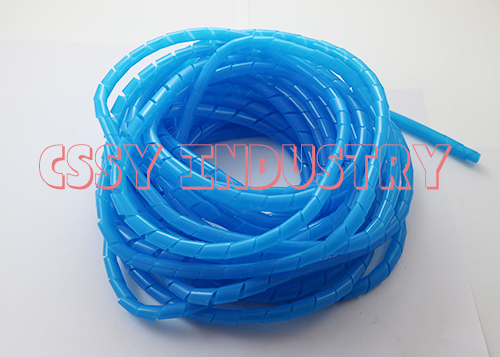 2017 freeshipping  6mm spiral wrapping bands red  red yellow blue green wire cable