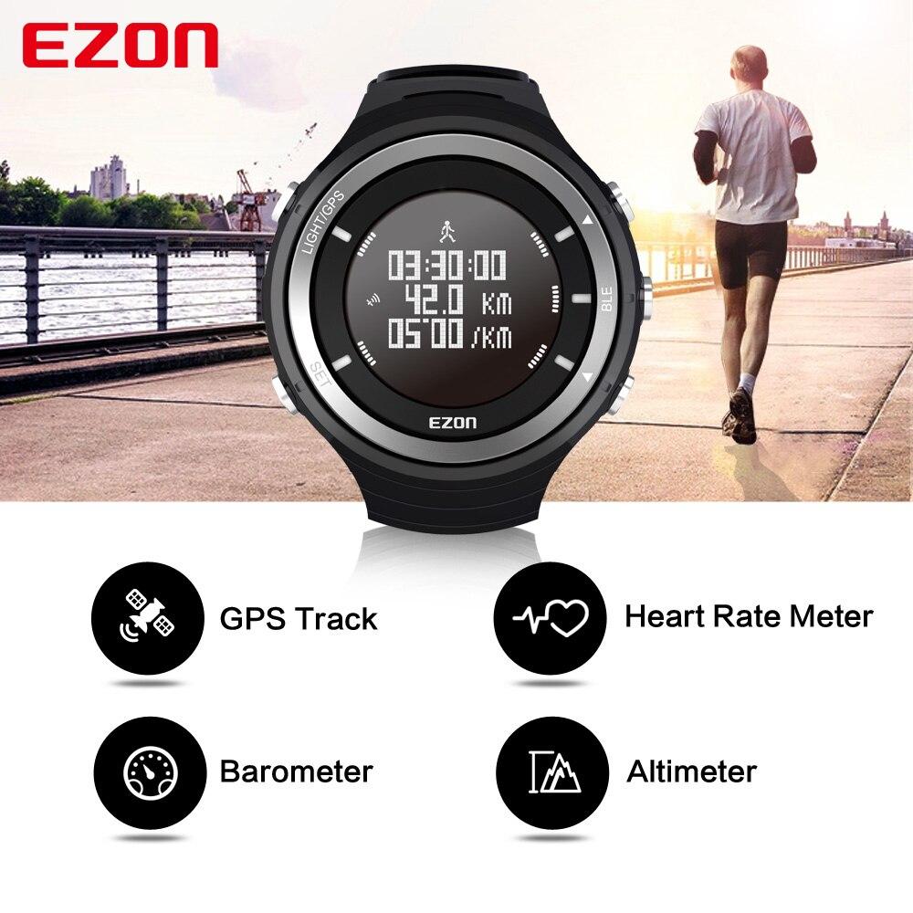 EZON GPS HRM moniteur de fréquence cardiaque sport randonnée entraînement Fitness montre Calories podomètre Bluetooth 4.0 montre de sport intelligente T033-in Montres sport from Montres    3