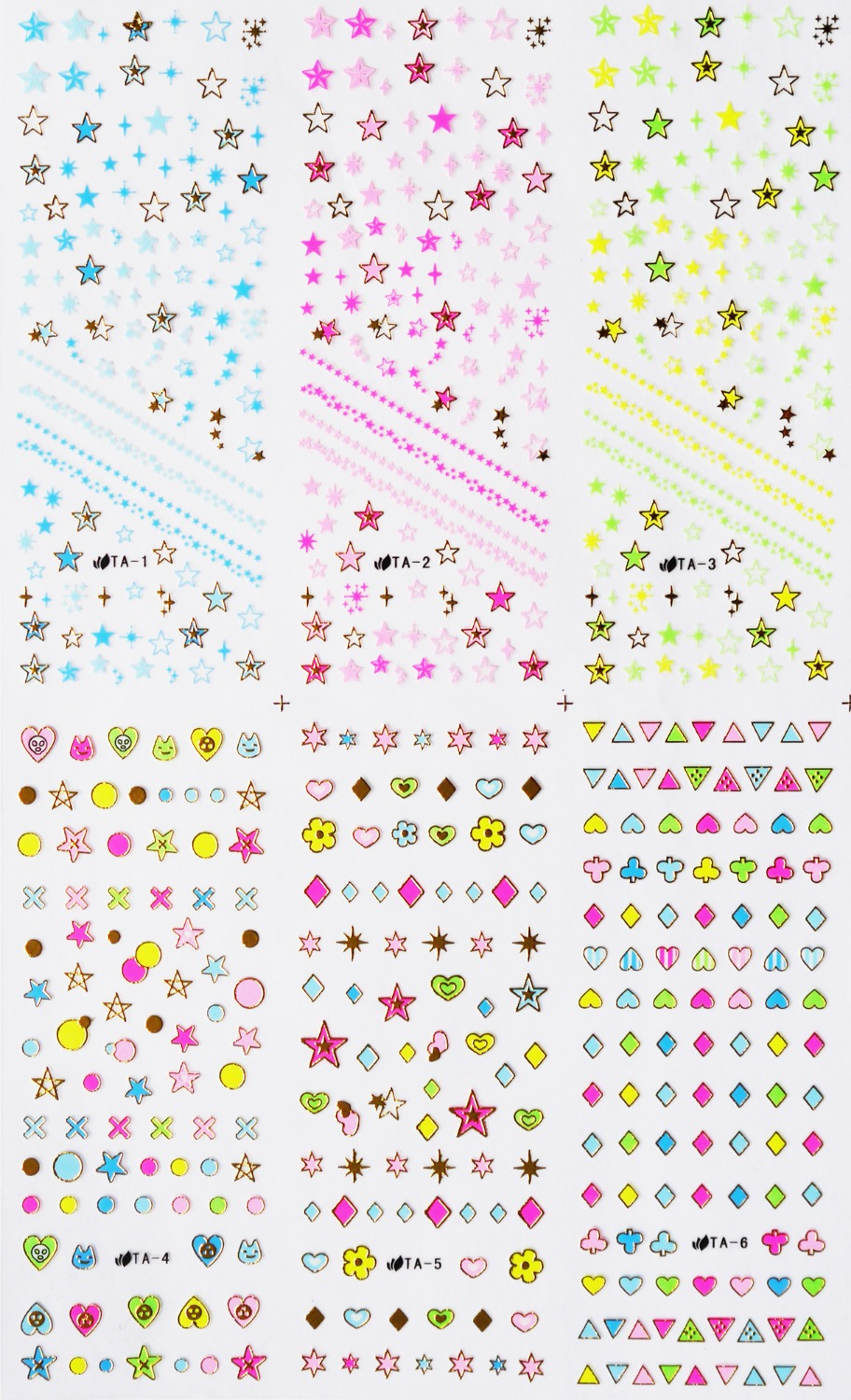 2,3,4,5 mm ou mixte taille AB irisée jelly Strass Ongle Fabrication Carte Blanche