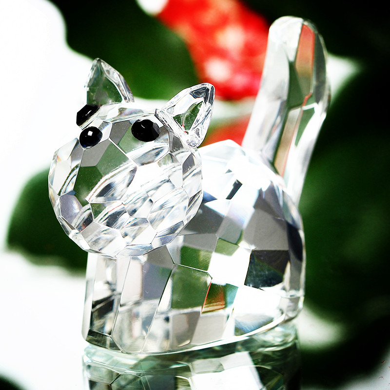 New Crystal Cute Handcrafted Cat kitty Figurines Paperweight Animal Collectible