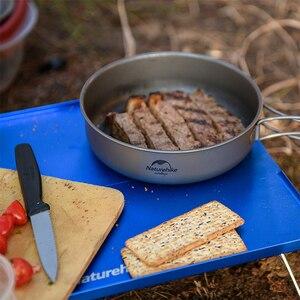 Image 3 - Naturehike vajilla de titanio para 2 3 personas, pícnic al aire libre, olla de Camping, cacerola de cocina, utensilios de cocina ultraligeros de titanio para acampar