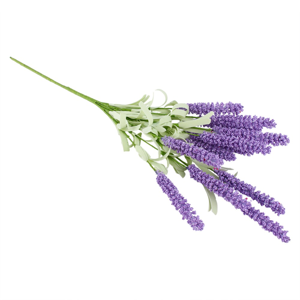 Online get cheap artificial lavender flowers bouquet for 12 heads fake flower artificial lavender silk flower bouquet wedding home party decor decorative fake flowers dhlflorist Images