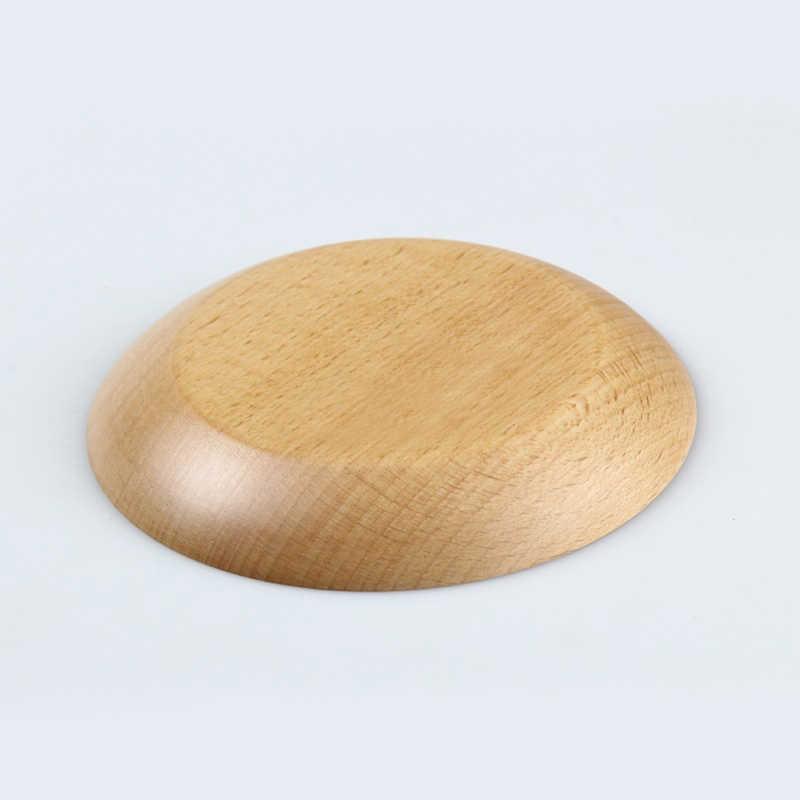 3 ชิ้น/เซ็ตอุปกรณ์ครัวสีไม้ธรรมชาติรอบรูปร่างขนมปังจานเป็นมิตรกับสิ่งแวดล้อมเครื่องครัวอาหารเย็นถาด