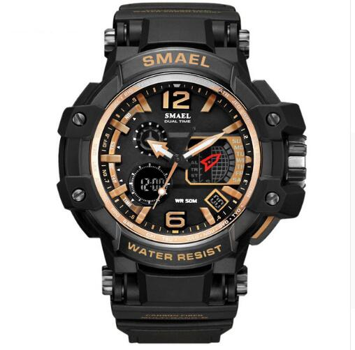 2018 Smael Brand Men Watch White Military Sport Led Digital 50m Waterproof Casual S Shock Male Clock 1509 Relogios Masculino Man