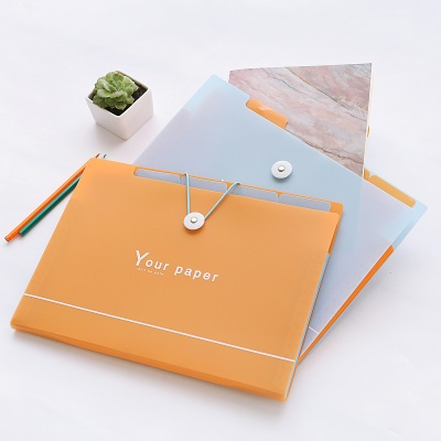 New Fashion Expanding File Folder For Documents A5 A4 File Organizer With Elastic Closure